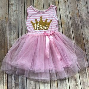 '3rd' Birthday Princess dress